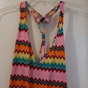 COOGI  romper multicolor scoop neckline